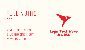 Red Flying Eagle Business Card