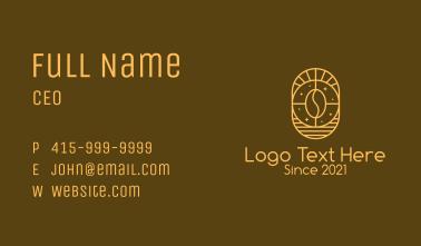 Spiritual Cafe Coffee Business Card