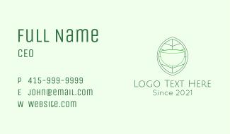 Tea Leaf Line Art Business Card
