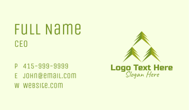 Palm Tree Forestry Business Card