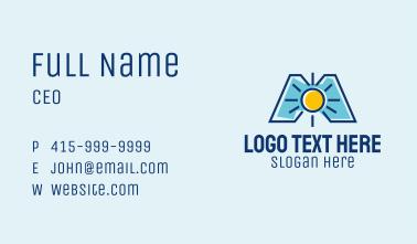Sun Letter M  Business Card