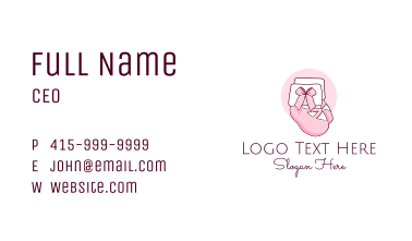 Baby Clothes Socks  Business Card
