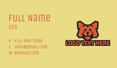 Red Bear Mascot  Business Card