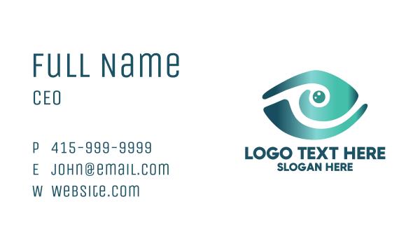 fishing - Abstract Marine Eye  Business card horizontal design
