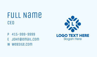 Blue Abstract Pharmaceutical Business Card