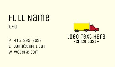 Long Cargo Truck Business Card