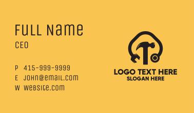 Black Tools Mechanic Business Card