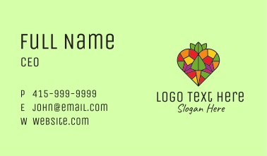 Heart Farm Stained Glass Business Card