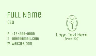 Green Minimalist Tree Business Card