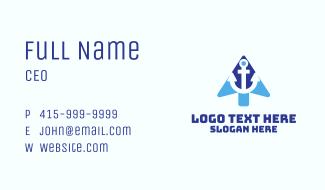Anchor Cursor Arrow Business Card
