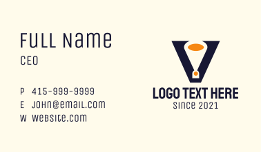 Letter V Speakerphone Business Card