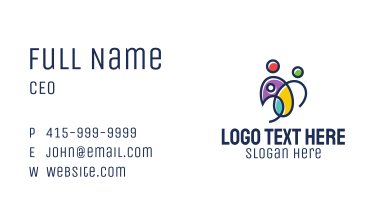 Colorful Family Business Card