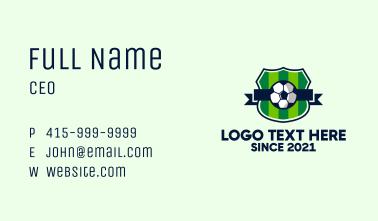 Soccer Sport League  Business Card