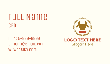 Cow Sausage Meat Business Card