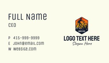 Mountain Bike Trail Business Card