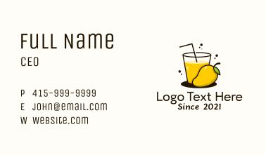 Mango Juice Glass Business Card