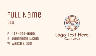 Croissant Coffee Shop Business Card