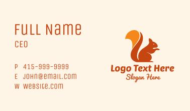 Orange Pet Squirrel Business Card