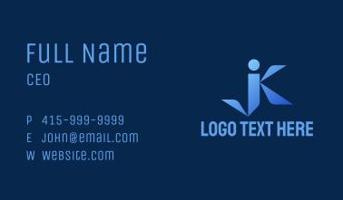 Corporate JK Monogram Business Card