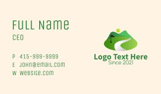 Golf Course Range Business Card