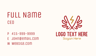 Wing Lightning Shoelace Business Card