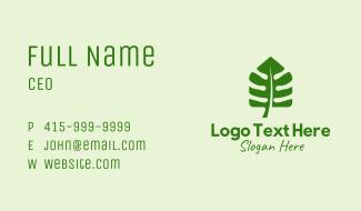 Plant Leaf House  Business Card
