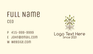 Minimalist Symmetric Plant Business Card