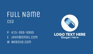 Blue Web Server Pill Business Card