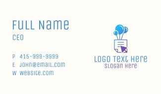 Balloon Document Click Business Card