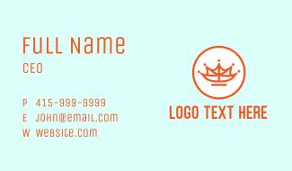 Leaf Crown Outline Business Card