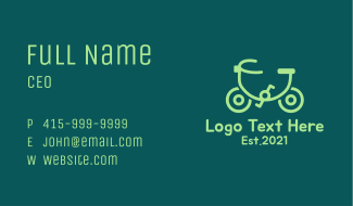 Monoline Eco Bicycle Business Card