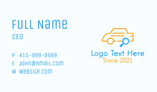 Car Search Outline Business Card
