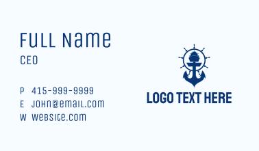 Ferry Ship Anchor  Business Card
