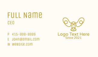 Gold Bird Outline Business Card