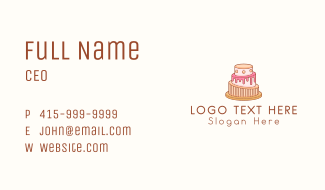Big Cake Shop Business Card