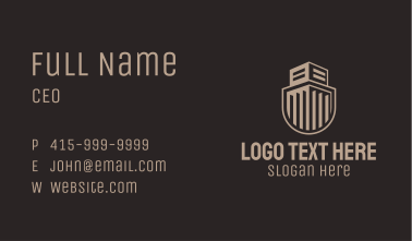 Building Guard Shield Business Card