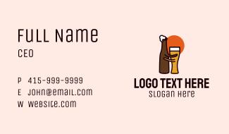 Beer Glass & Bottle Pub Business Card