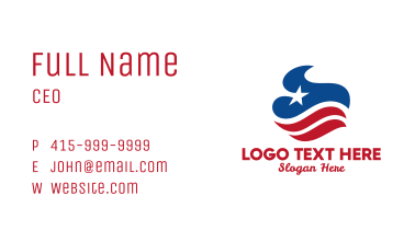Abstract American Flag  Business Card