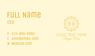 Golden Audio Mic Business Card
