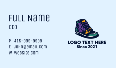 Colorful Sneakers Shoes Business Card