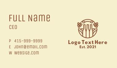 Line Art Liquor Bottle Business Card
