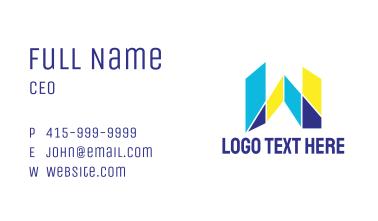 Mosaic Modern W Business Card