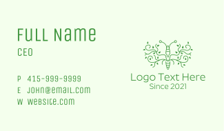 Green Leaf Insect Business Card