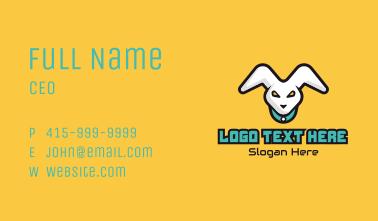 White Rabbit Mascot Business Card