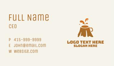 Orange Volcano Coffee Business Card