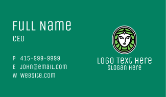 Nature Girl Badge Business Card