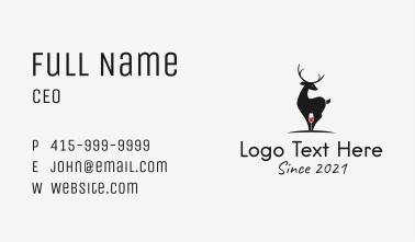 Deer Wine bar Business Card