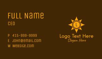 Gold Sun Letter Business Card