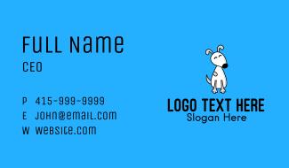 Cute White Puppy Business Card