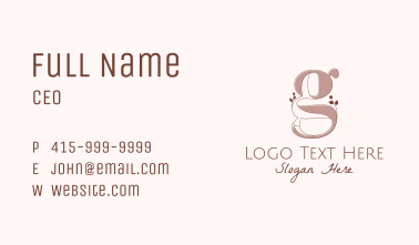 Elegant Letter G Business Card